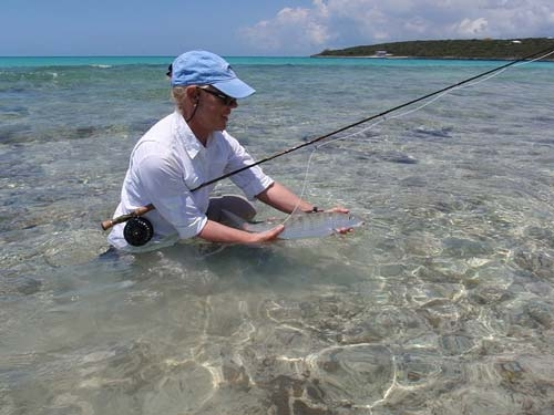 woman fishing in saltwater