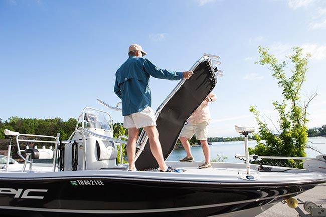 fishmaster folding ttop