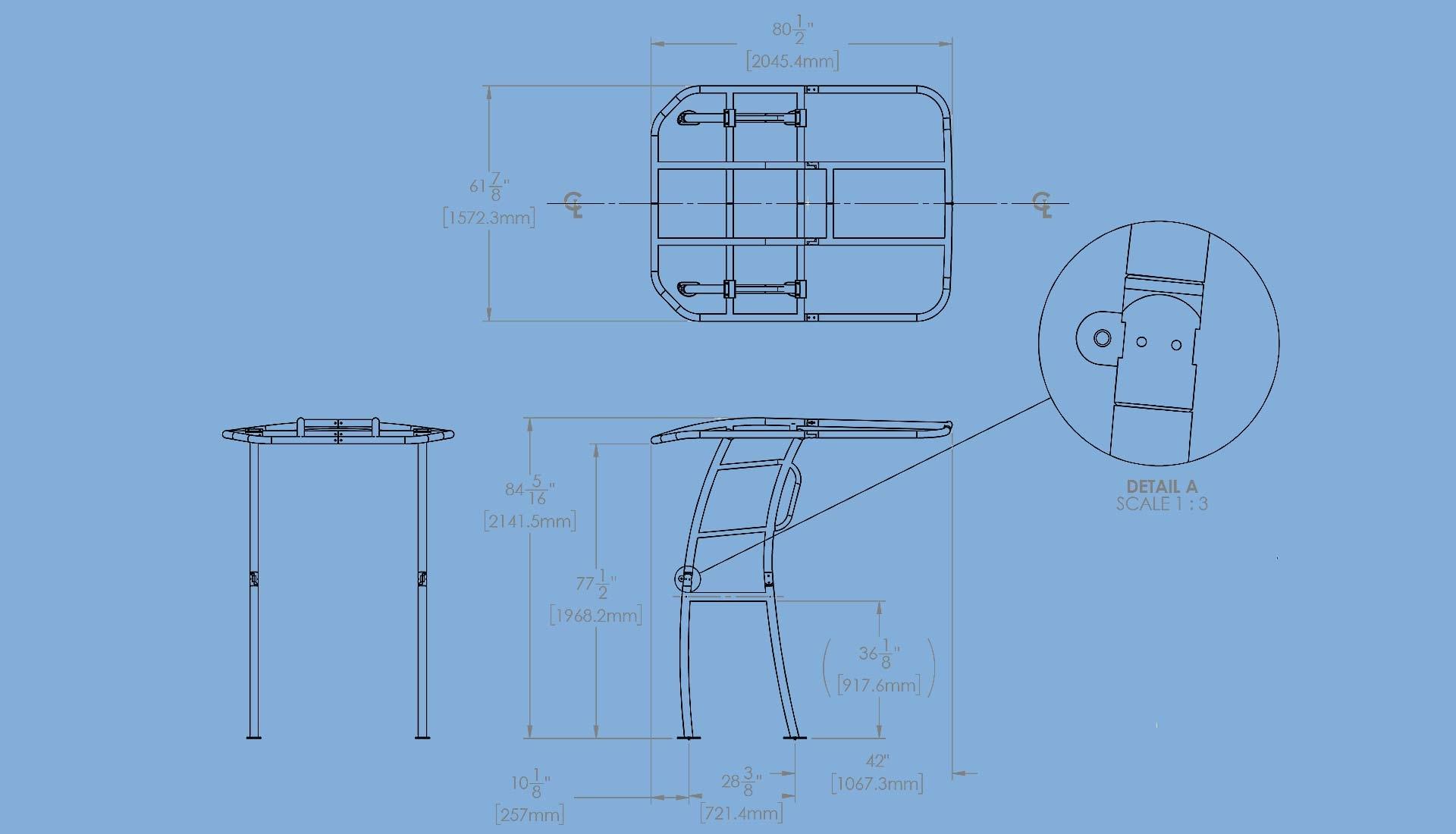 pro series t-top measurements