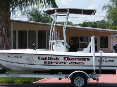fishmaster t-top on charter boat