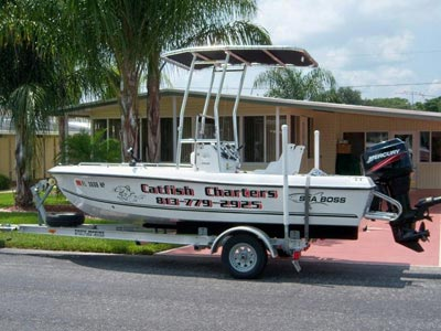 charter boat with fishmaster t-top