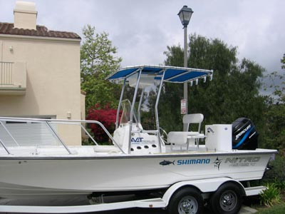 fishmaster t-top on tournament boat