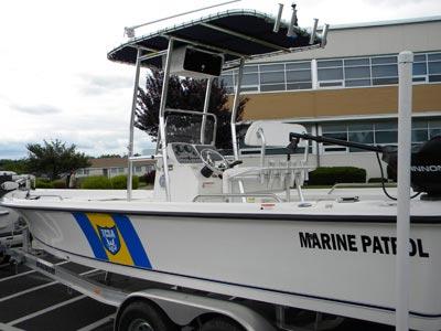 fishmaster t-top on patrol boat