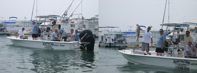 fishmaster t-top on fishing boat