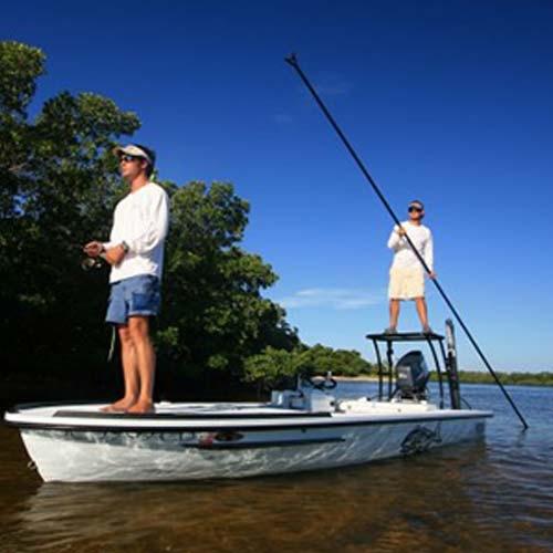 two men sight fishing