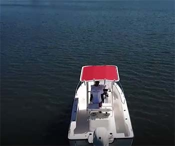 over head fishmaster t-top on water