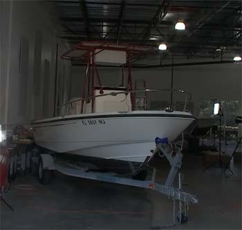 boston whaler with fishmaster t-top