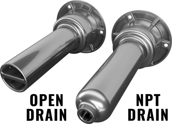 Rod Cup Holder Drains
